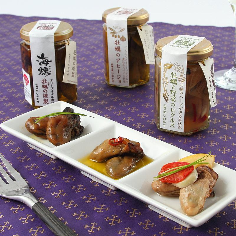 岡山土産_牡蠣の家しおかぜ【 牡蠣の旨みと香りが味わえる3本セット 】