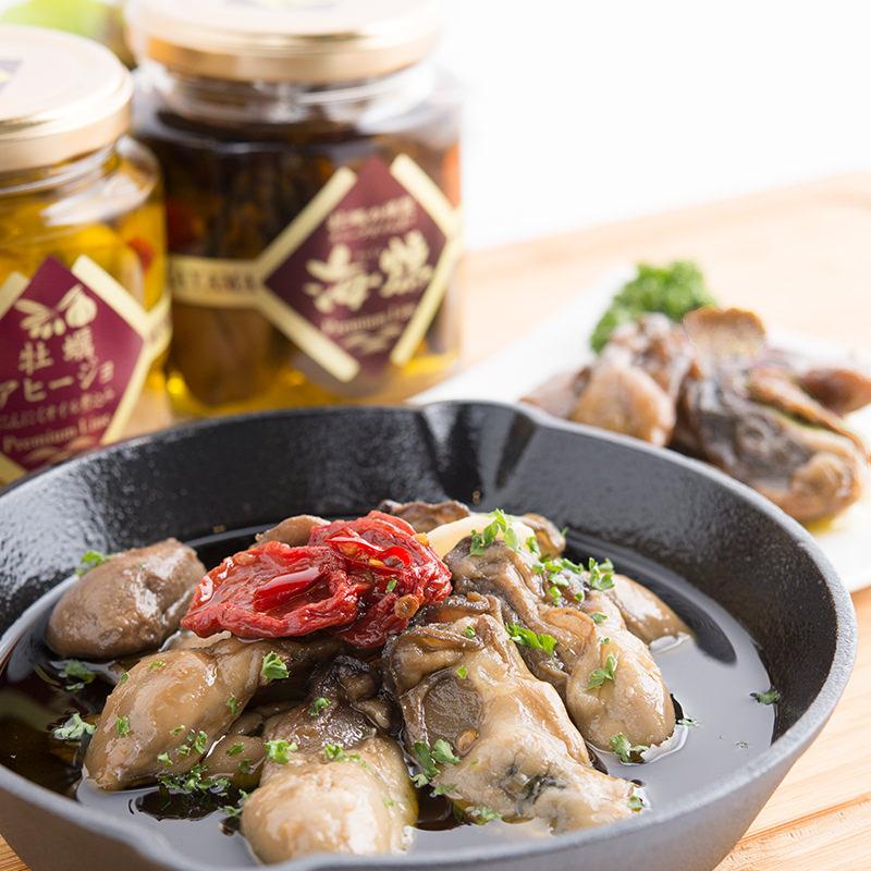 岡山の海のご馳走!「牡蠣の燻製オリーブオイル漬け&アヒージョ」