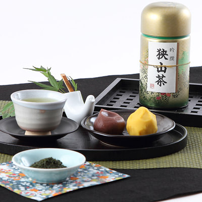 埼玉特産品-荻野商店狭山茶缶入りセット