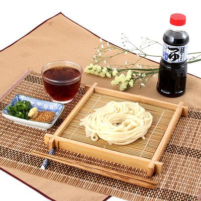 岡山名物_かも川手延素麺【 手延うどん麺つゆ付 】