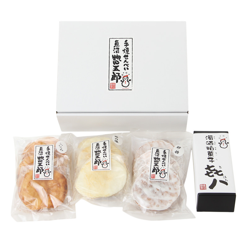 新潟土産-美つ星屋【手焼せんべい「魚沼惣五郎」とどぶろくかすてぃら「き八」】