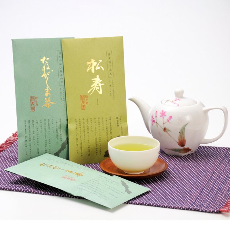 種子島松寿園 鹿児島県 日本一早い走り新茶の里 種子島新茶セット〔松寿70g・たねがしま茶100g×2〕