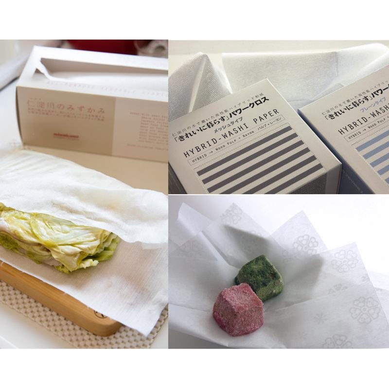 ハイブリット和紙 土佐和紙で食空間を彩るmizukami商品詰合せ 三彩 高知県〔「きれいに暮らす」パワークロスほか全5種〕