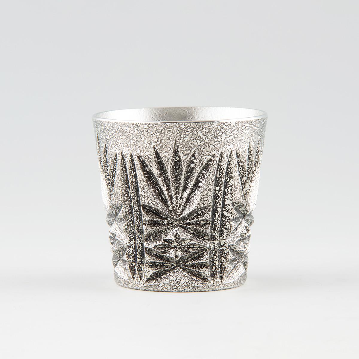 鹿児島県指定伝統工芸。薩摩錫器 切子グラス (有)岩切美巧堂・鹿児島県