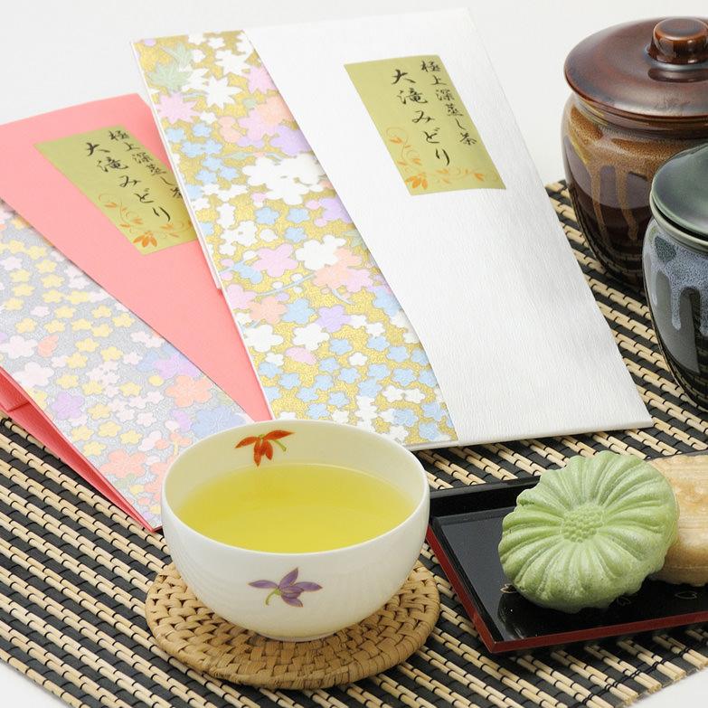 茶問屋も認めた良質で高級な味わい。極上深蒸し茶 大滝みどりセット 有限会社城下製茶・鹿児島県