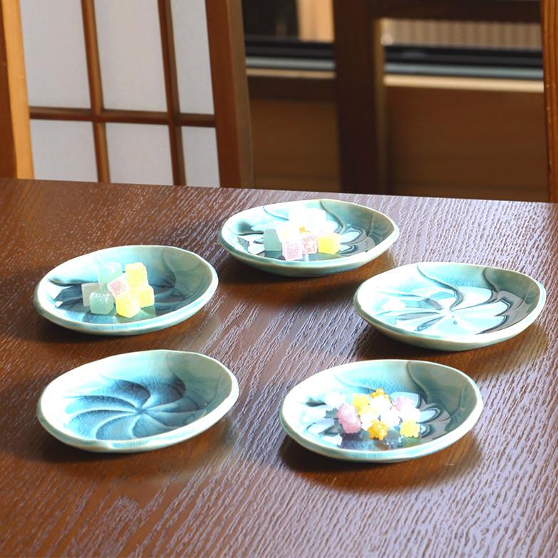 ペルシャブルー豆皿セット 九谷焼 戸出工房・石川県