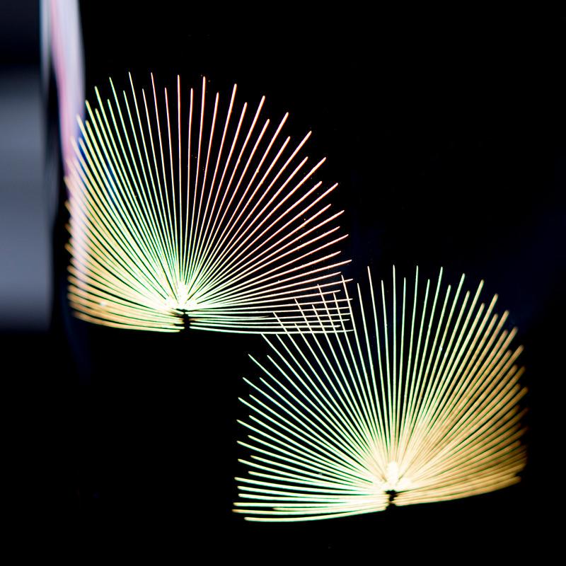 縁起の良い沈金彫 黒呂色仕上げ 輪島塗 口切花器 盛松沈金〔直径約6.3cm×高さ約25.2cm〕