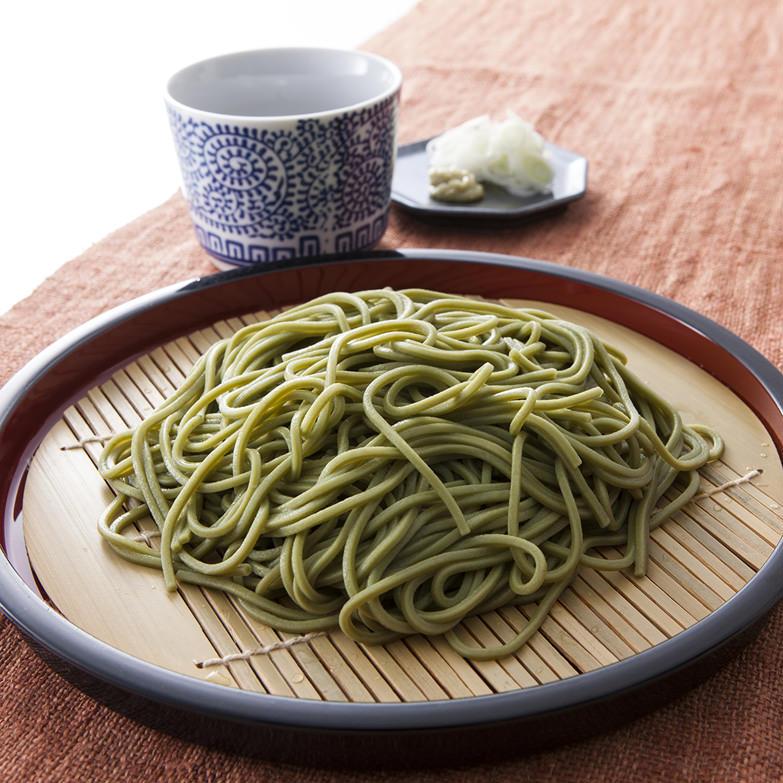 日本有数の産地である西尾の抹茶を練り込んだ風味豊かなそば 西尾抹茶そば200g×4 西尾製粉株式会社・愛知県