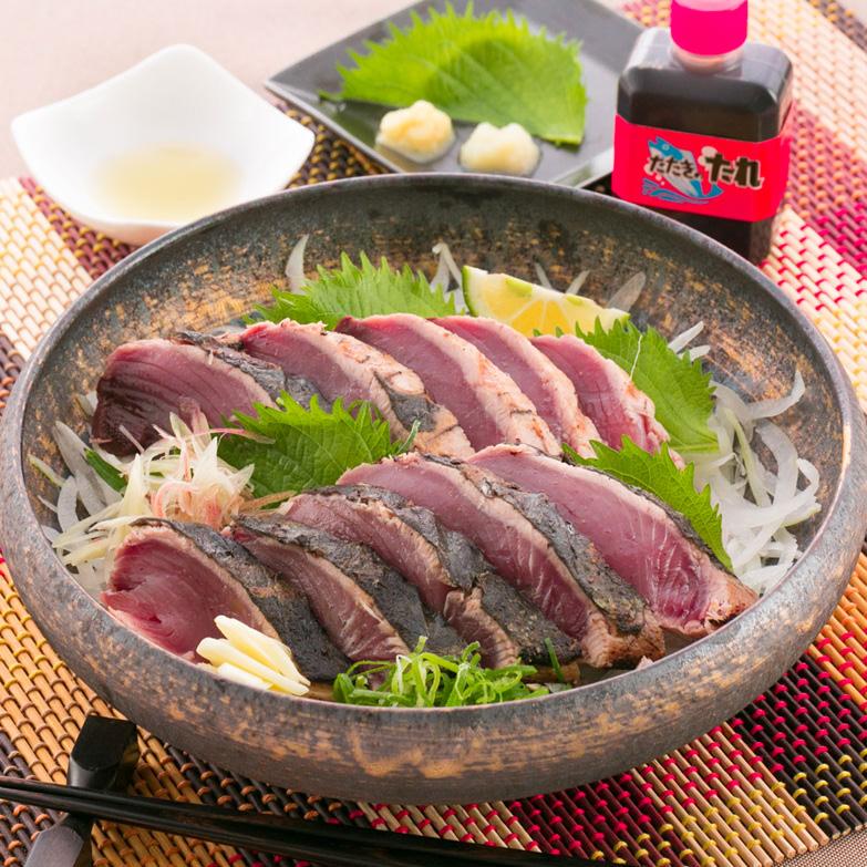 厳選した鰹をわら焼きで風味豊かに焼きあげた「黒潮たたき」3本入 土佐海・高知県