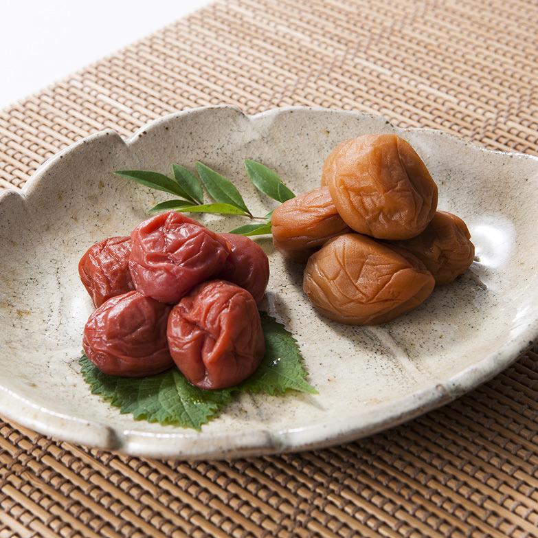 梅ごのみ〈極〉うす・しそセット 株式会社福梅 福井県 種が小さく肉厚な福井梅を使用した若狭町特産の美味しい梅干し