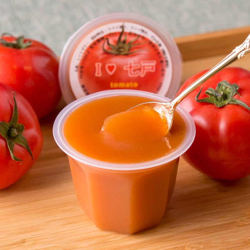 みちのく農産 青森県七戸町産の無添加トマト アイラブしちのへトマトゼリー〔124g×14〕