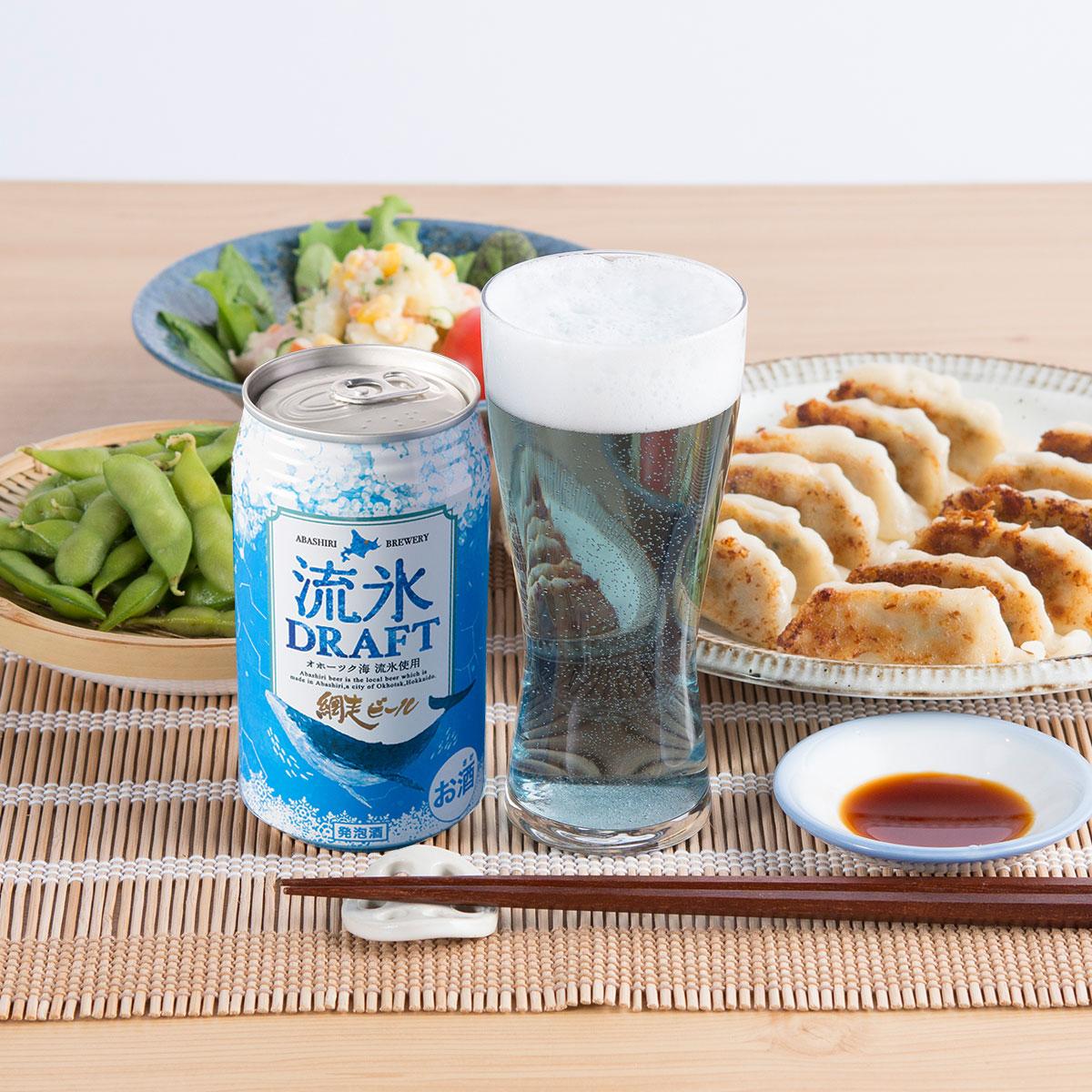 国産 地ビール 北海道網走ビール 流氷ドラフト(缶)24本セット〔350ml×24本〕【沖縄・離島 お届け不可】
