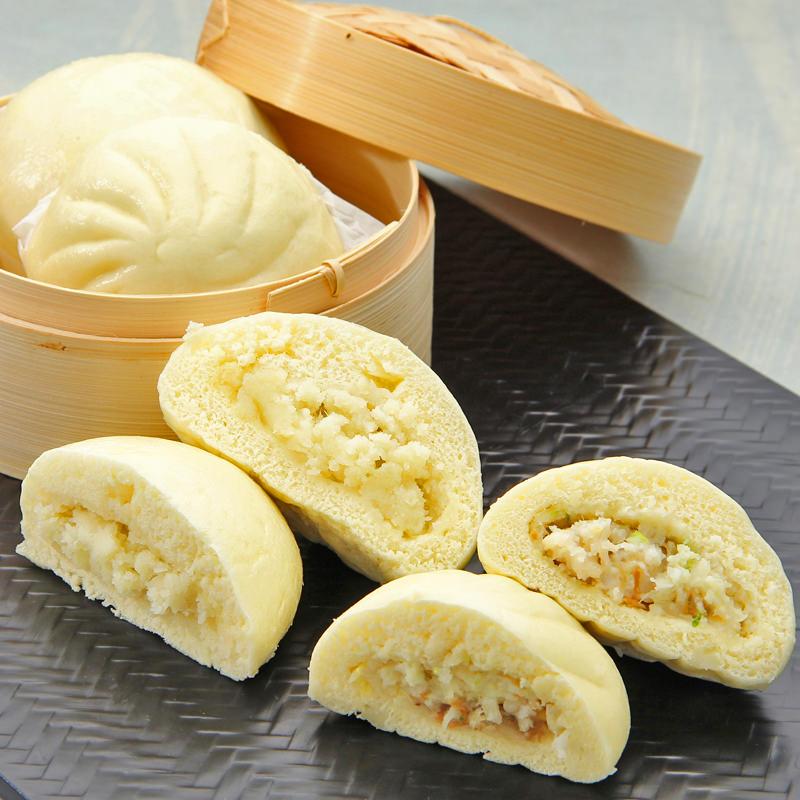 北海道ホタテバターまん・北海道じゃがバターまんセット〔ホタテバターまん、じゃがバターまん(各8個)〕