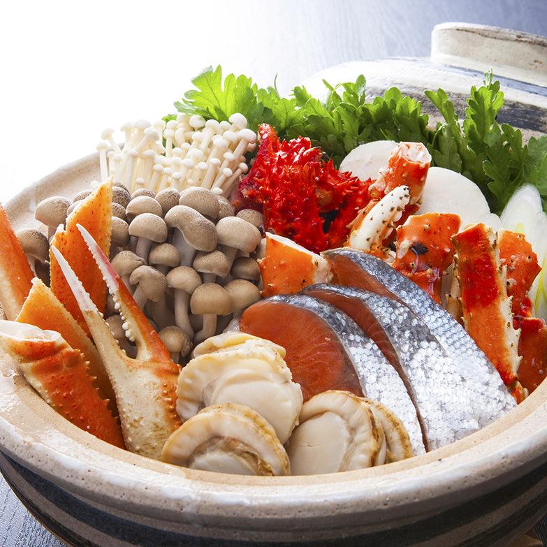 かに鍋セット 札幌蟹販株式会社 北海道 「カニ」をはじめ北海道ならではの魚介類満載の味噌風味の鍋を味わう。
