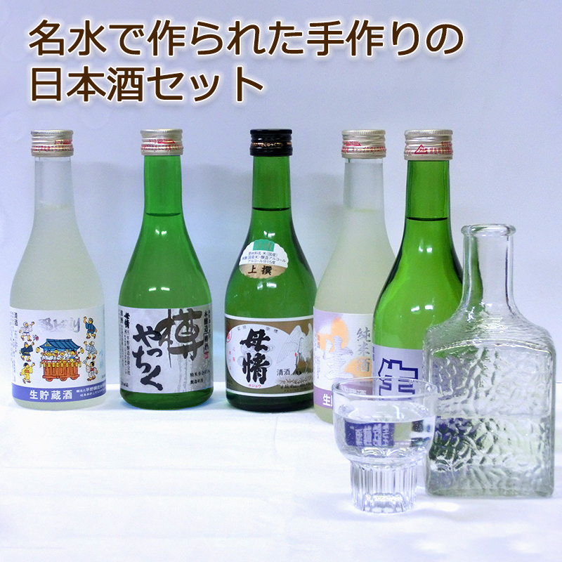 日本酒 母情飲み比べ5本入りセット〔1500ml〕[生貯蔵酒・本醸造酒]