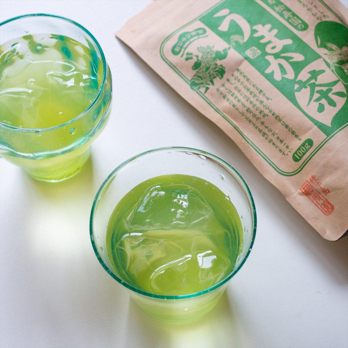 あぐりの里 房子さんのあとひく安納芋甘納豆と松寿園のうまか茶セット〔甘納豆80g×2・うまか茶100g〕
