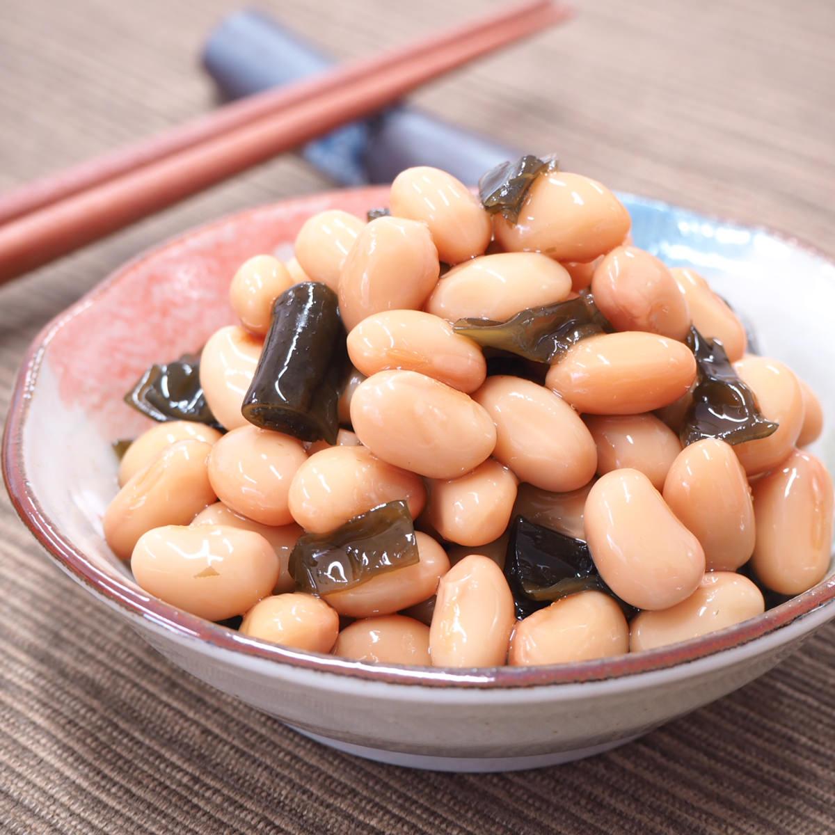減塩煮豆2種セット 〔減塩昆布豆105g×3・減塩野菜豆100g×3〕 愛知県 惣菜 カネハツ