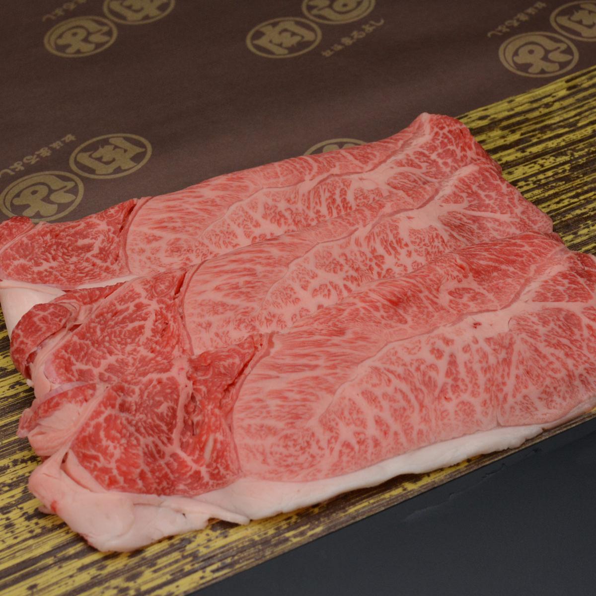 松阪まるよし 松阪牛すき焼き用スライス肉 〔肩・モモ400g〕三重県