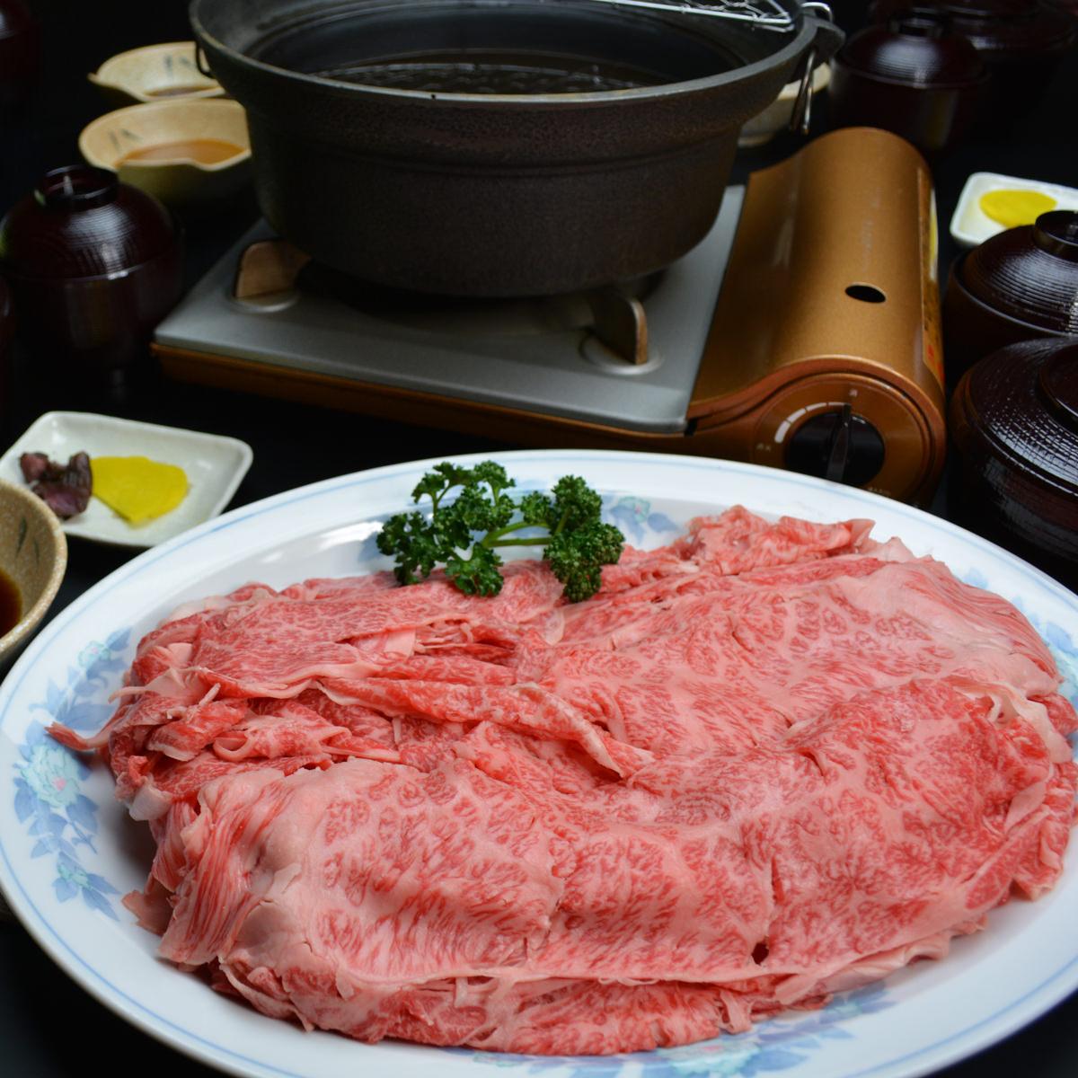 松阪まるよし 松阪牛しゃぶしゃぶ用スライス肉(肩・モモ)〔400g〕