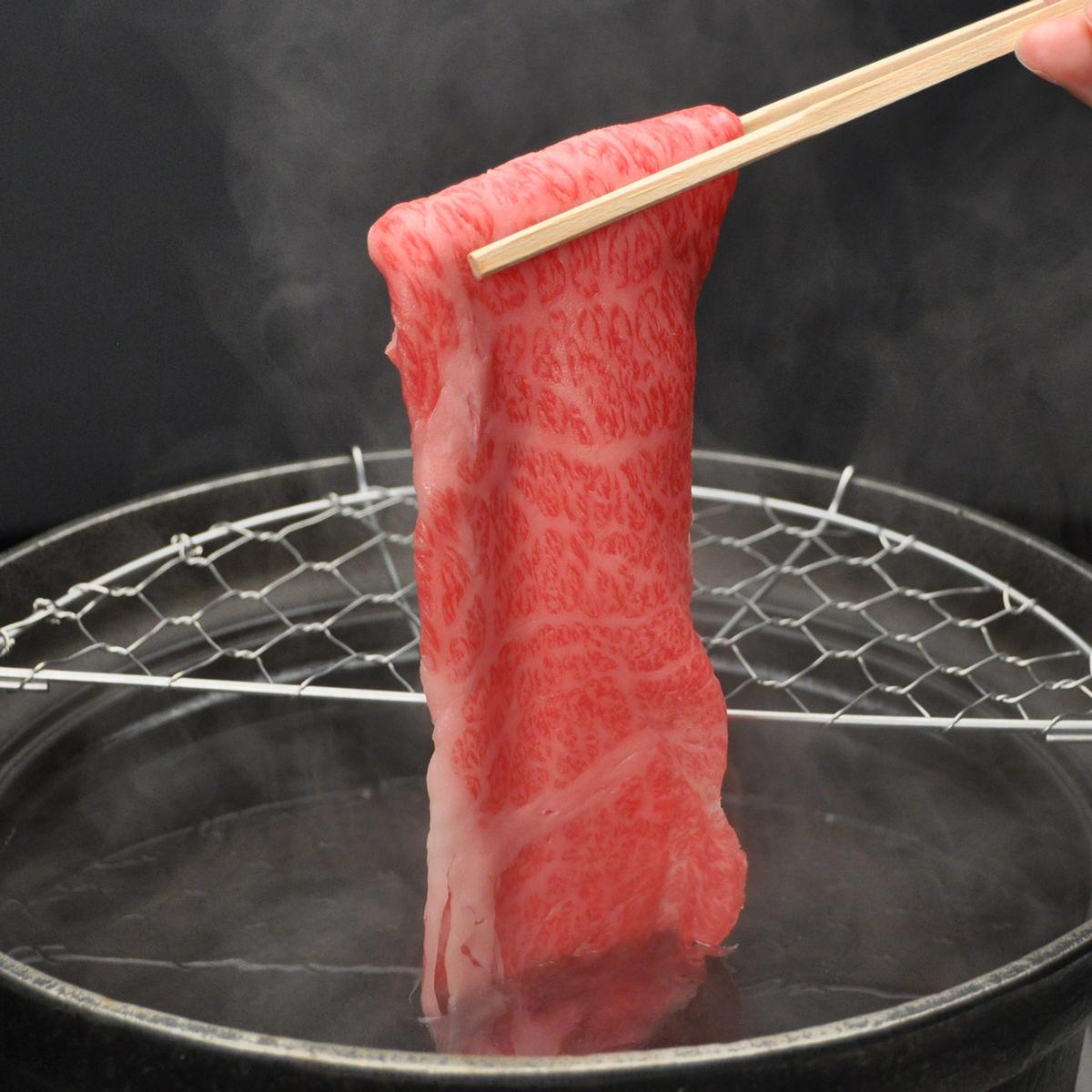 松阪まるよし 松阪牛 しゃぶしゃぶ用スライス肉 〔ロース・肩ロース200g〕三重県