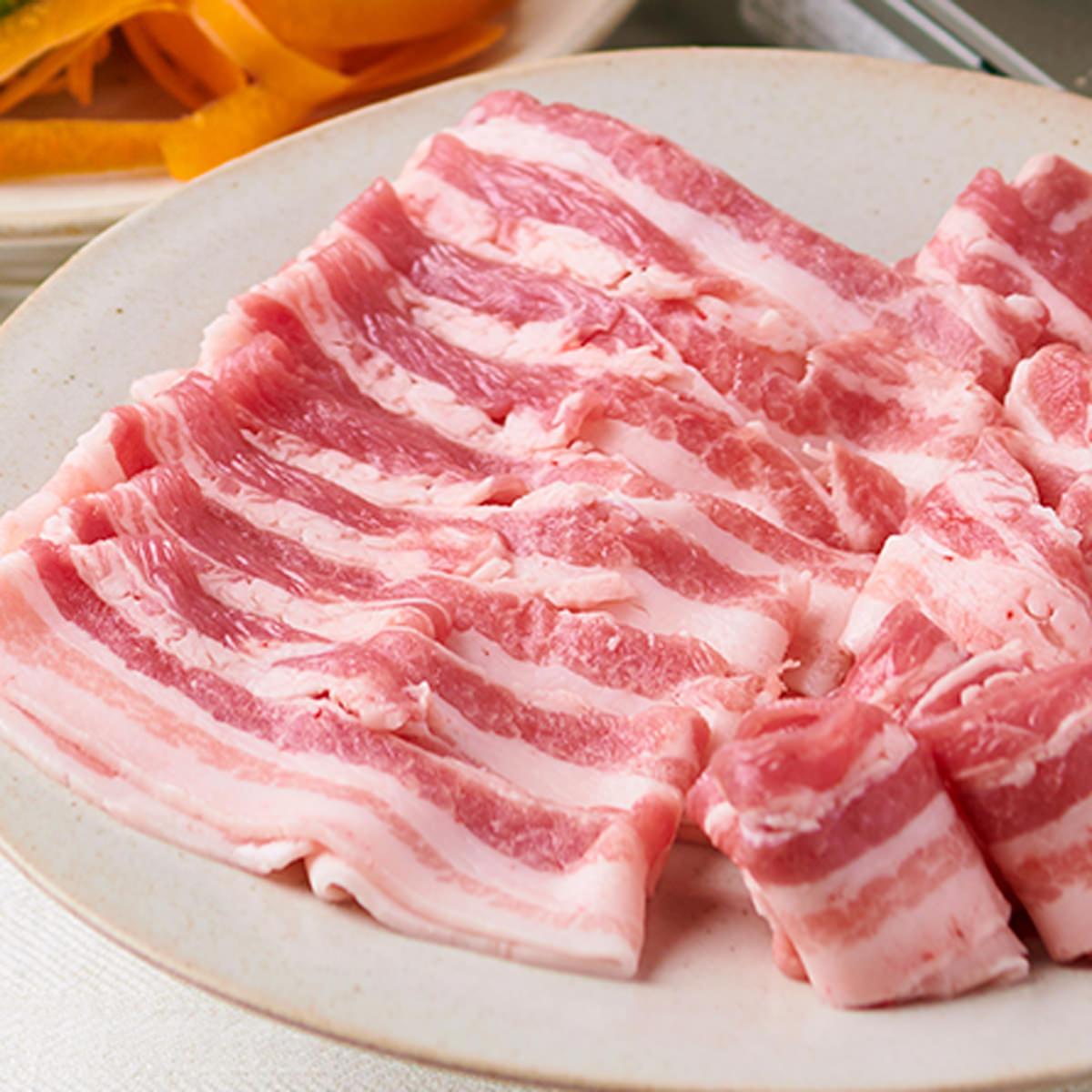 さの萬 冷蔵 萬幻豚バラしゃぶしゃぶ詰合せ 豚バラ肉〔萬幻豚バラ肉400g・オリジナルごまだれ・ラー油〕