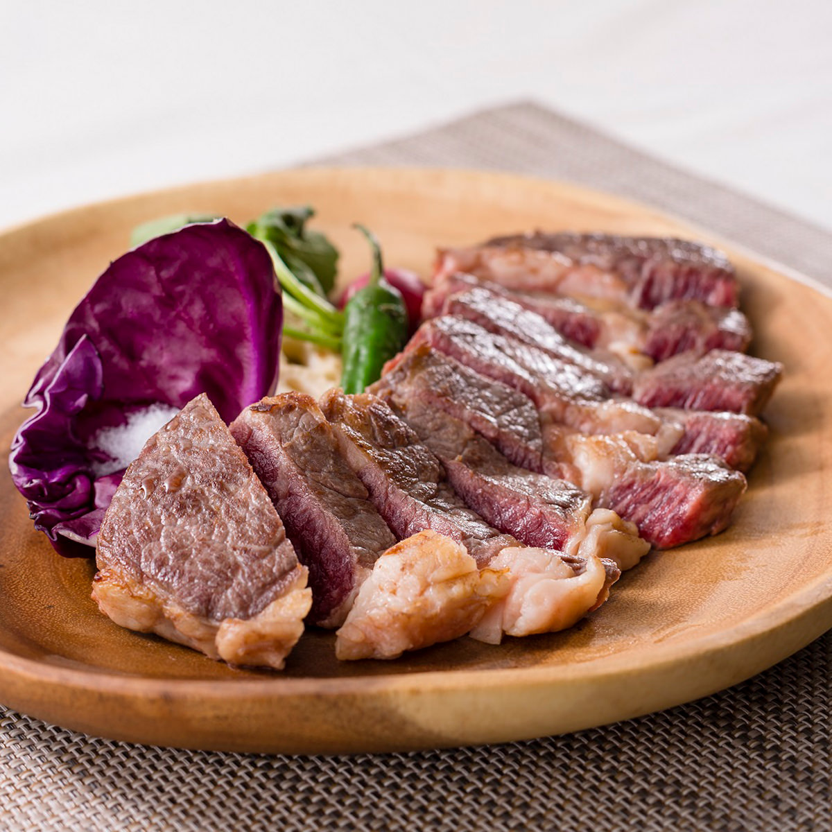 発酵熟成肉1ポンドステーキ 〔US産チャックアイロール 牛肩ロース 460g〕岡山県 石井食品