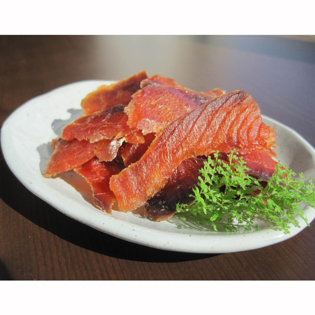 鮭とばスライス 2個入り 〔100g×2〕 北海道 珍味 江戸屋