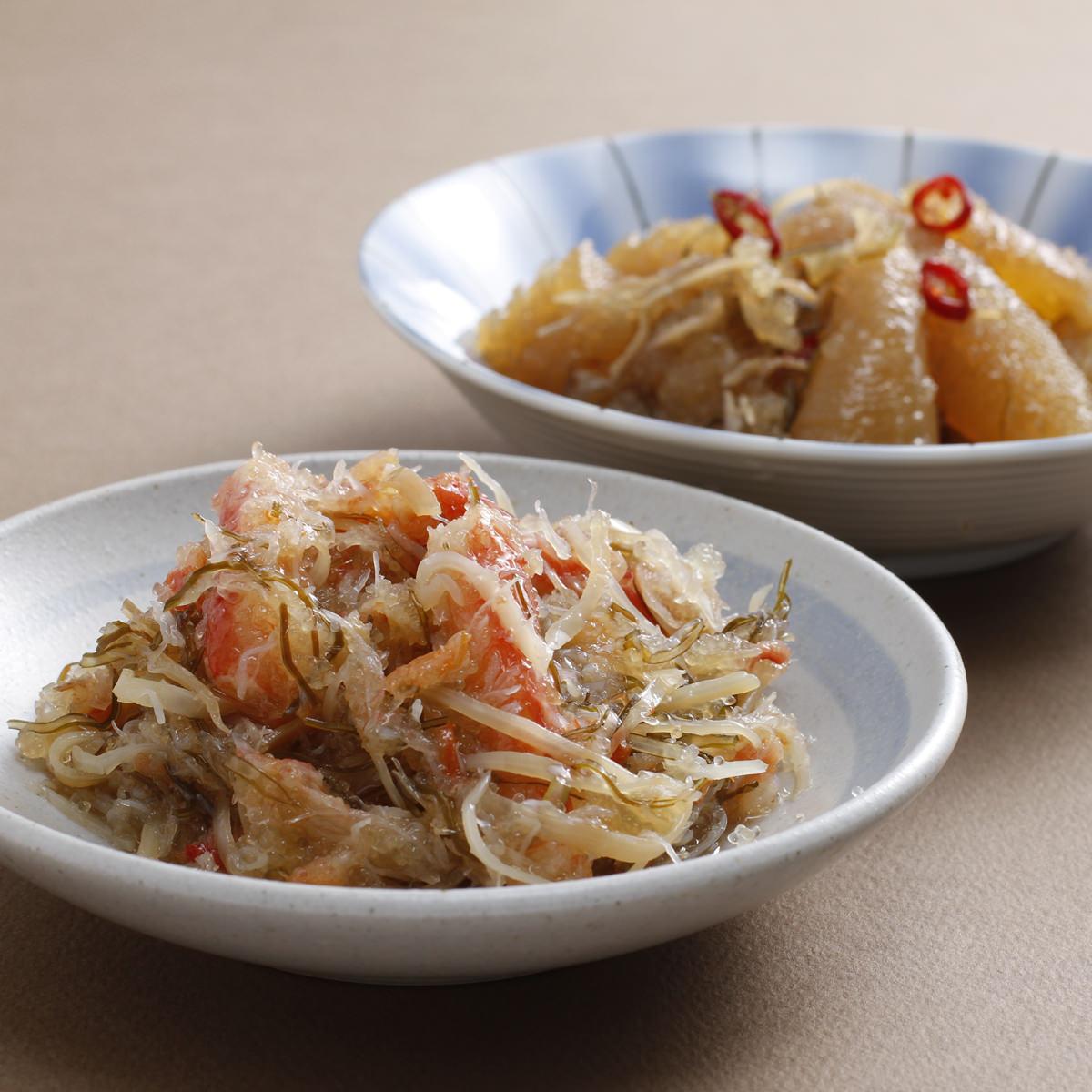 贅沢松前漬けセット 〔数の子松前漬け350g、かに入松前漬け300g〕 北海道 海鮮惣菜