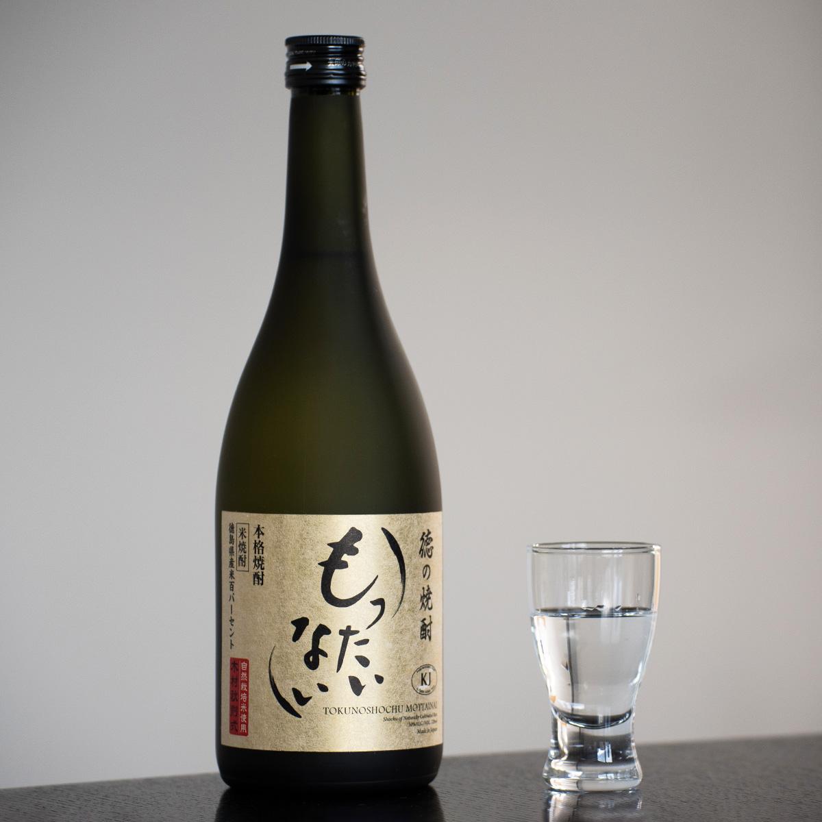 OrganicGarden 美味しい関係 米焼酎 徳の焼酎 もったいない 徳島県産 自然栽培米 焼酎〔720ml〕