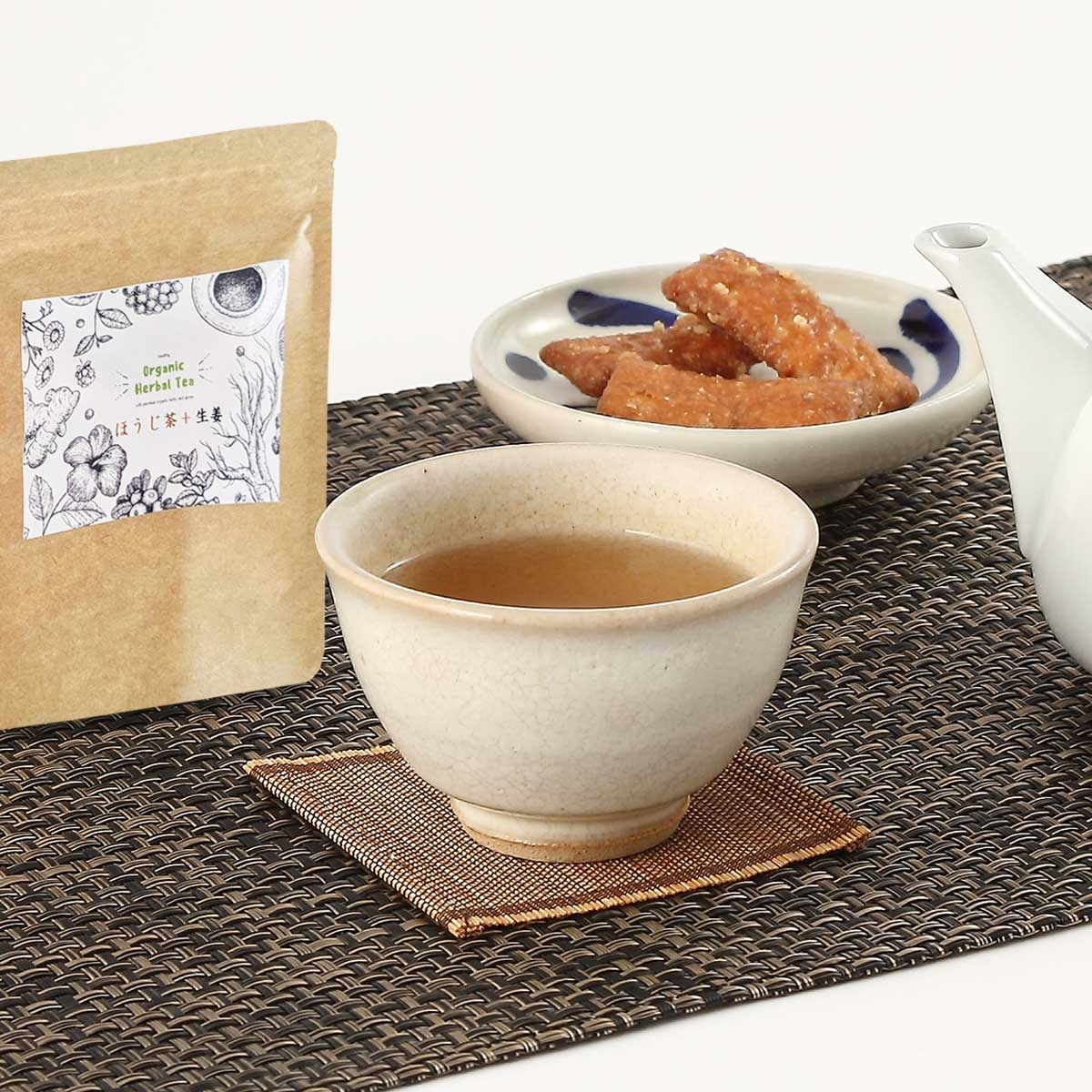 健康しょうが茶シリーズ しょうがほうじ茶 長治園 茨城県〔ティーパック:5個(10杯分)〕