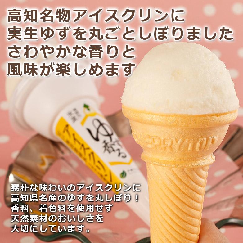 高知名物アイスクリンに実生ゆずを加えた〈 ゆず香るアイスクリンコーン 〉 | 有限会社さめうらフーズ・高知県