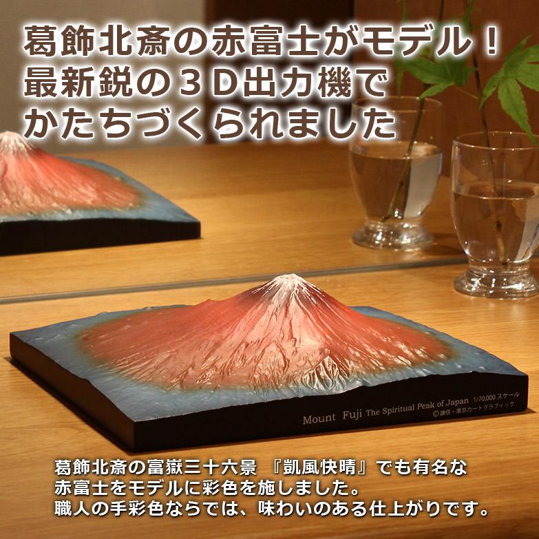葛飾北斎の かの有名な赤富士がモデル 第二景 赤富士 単体モデル   株式会社謙信・東京都