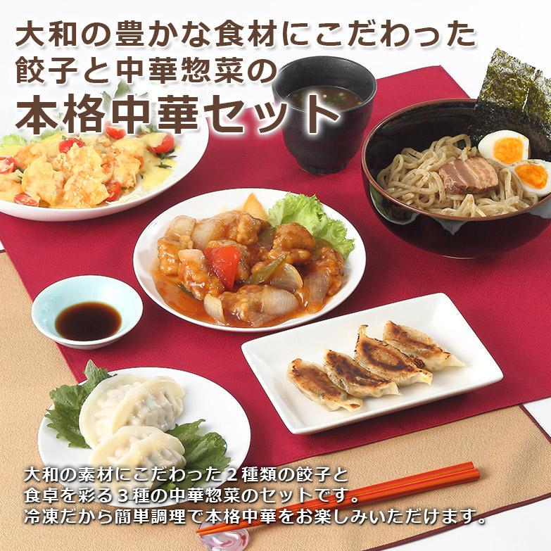 奈良県発! 大和の野菜と地鶏が香る 大和の餃子と中華惣菜のセット