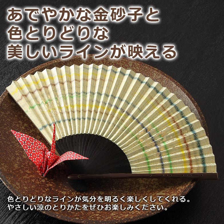 300年の伝統を受け継いだ近江扇子 金砂子、ライン