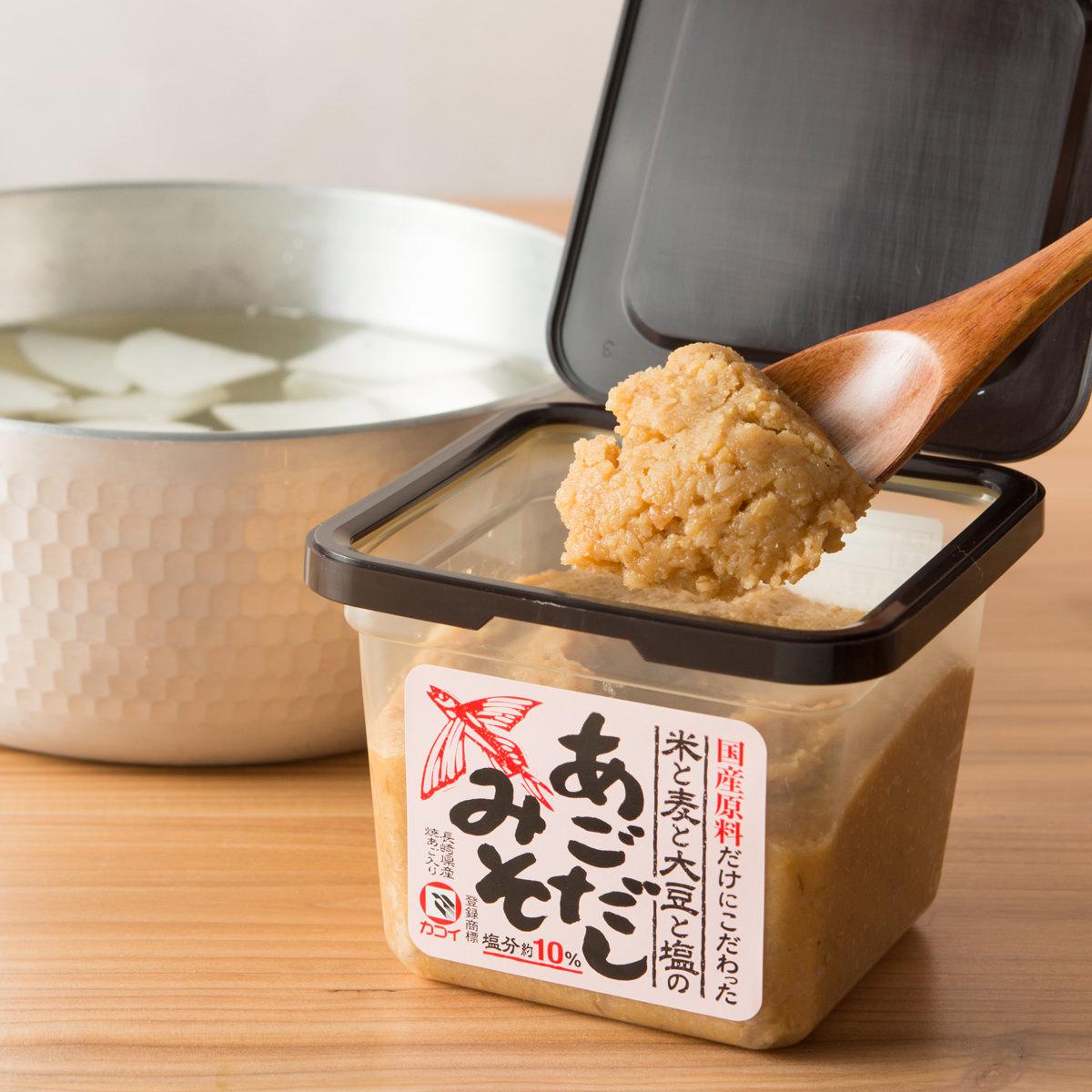 カコイ食品 長崎県産焼とびうおと国産素材の出汁入り味噌 あごだしみそ合わせセット〔400g×6〕