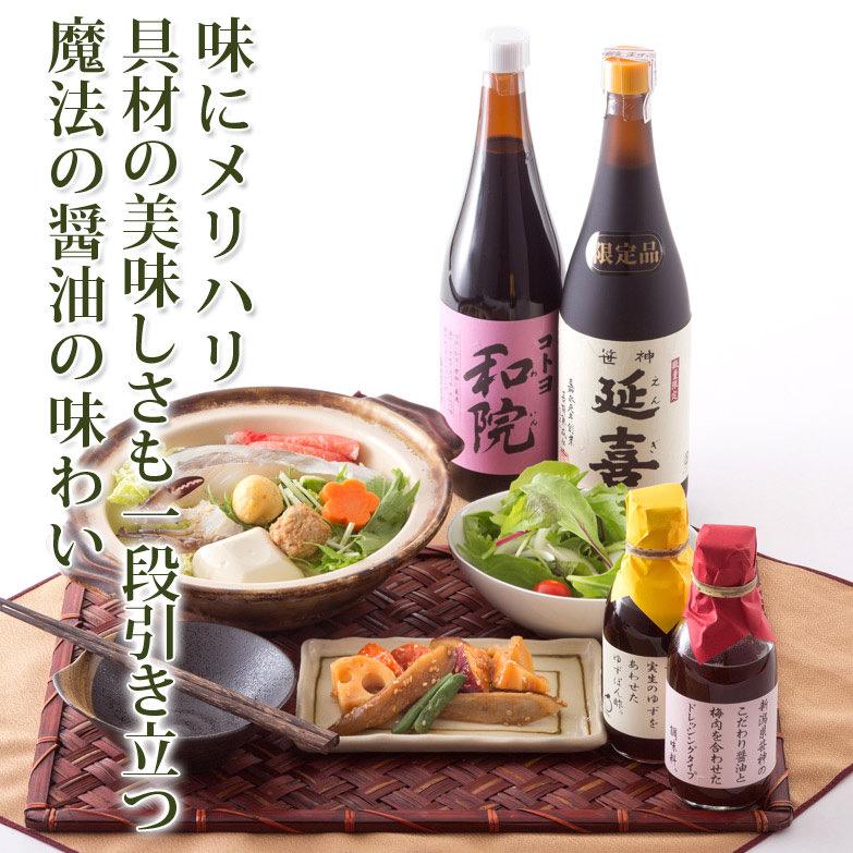自慢の醤油と人気調味料のセット  味三昧セット1 コトヨ醤油・新潟県