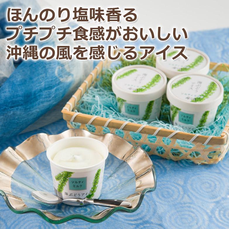 低カロリーで、ミネラルが豊富! おいしくて身体にうれしい新感覚アイス。ほんのり塩味香るプチプチの食感のおいしいアイスと共に、 沖縄の風を感じるアイス海ぶどうアイス 一番人気ミルク6個セット | 海ん道・沖縄県