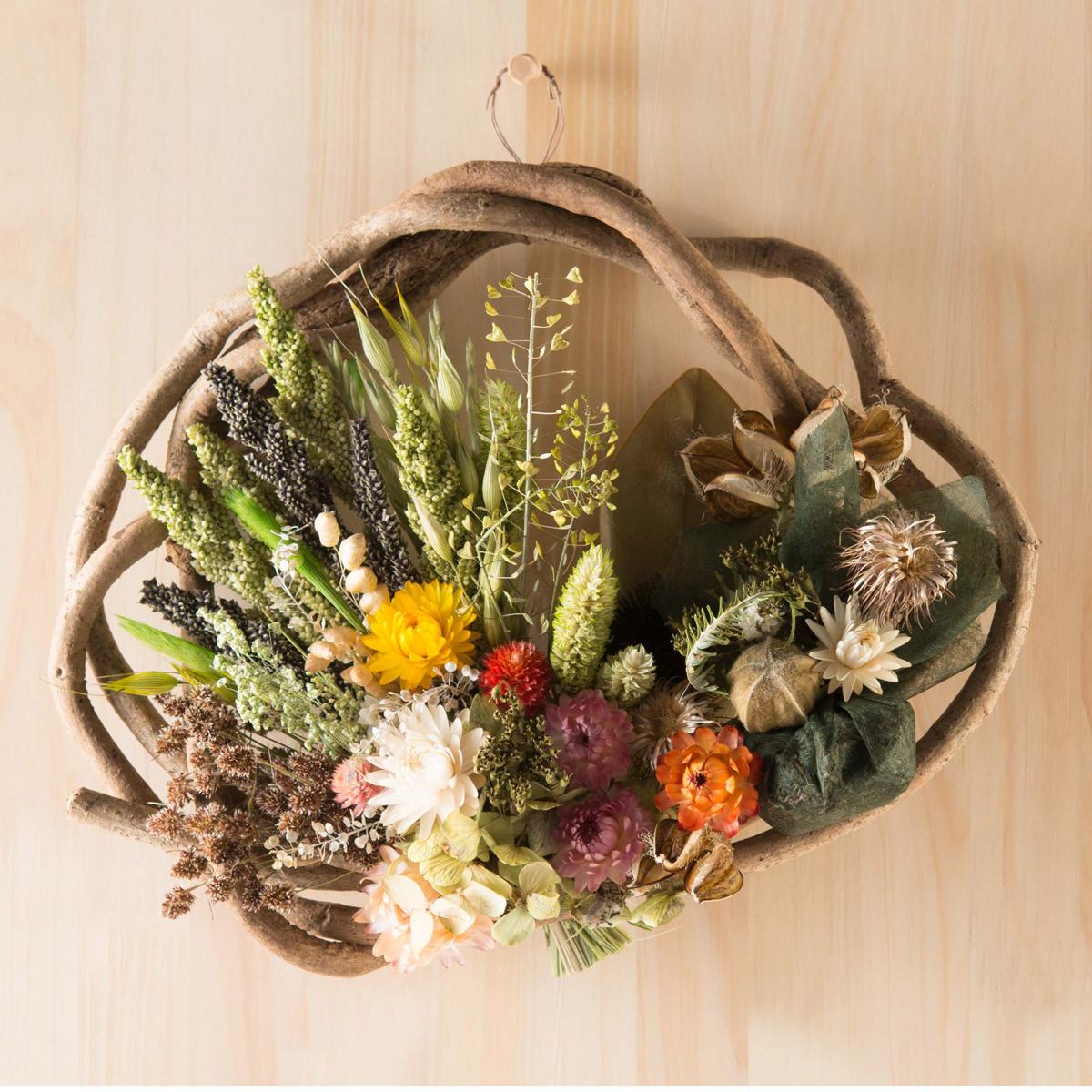 旭ラベンダー畑 ドライフラワー 大自然からの恵み 幸福のふくろう〔大サイズ×1・小サイズ×1〕