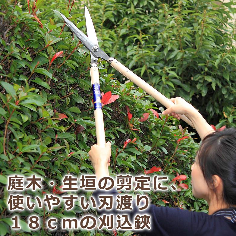 庭木・生垣の剪定に 刈込鋏・ピン付・180 | 笹岡鋏製作所・高知県