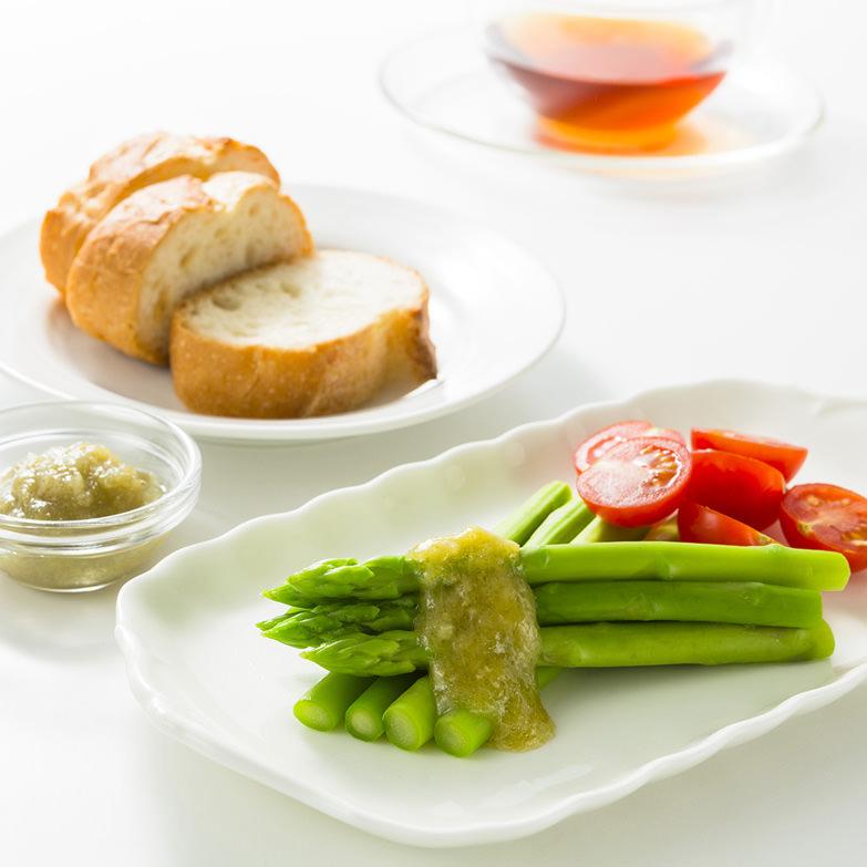 アスパラガスの塩麹ドレッシングとアスパラジャムのセット 宮寿司 北海道 「檜山の野菜」アスパラガスをペーストして塩麹で仕上げました。