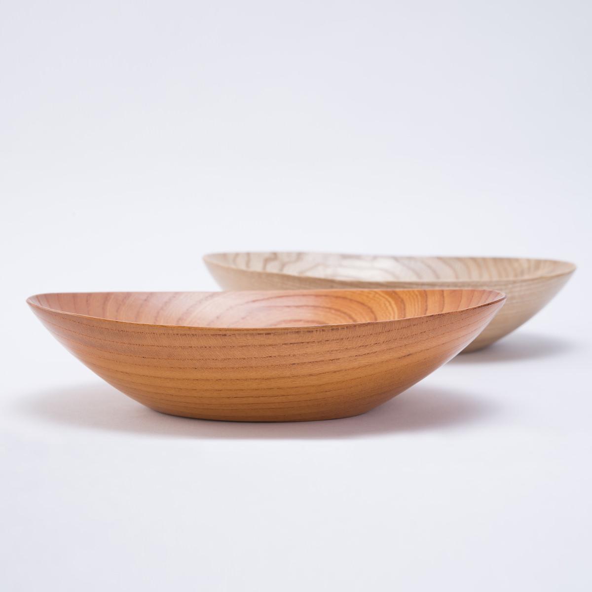 銘木工芸山匠 インテリアにもおしゃれな木の器 銘木器 中サイズ〔2枚〕