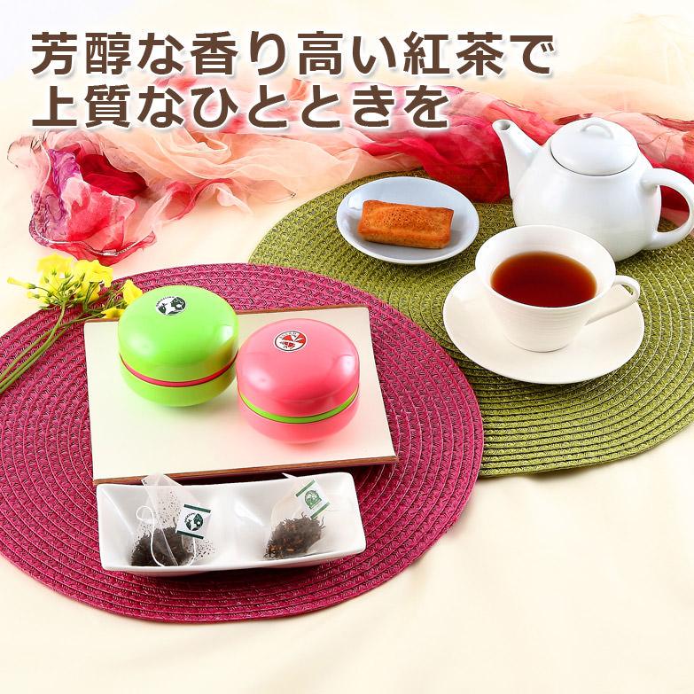 紅茶スペシャルセレクト  マカロン缶ギフトBOX  ティーバッグ2缶セット サロン・ド・カフェ よしだ 茨城県