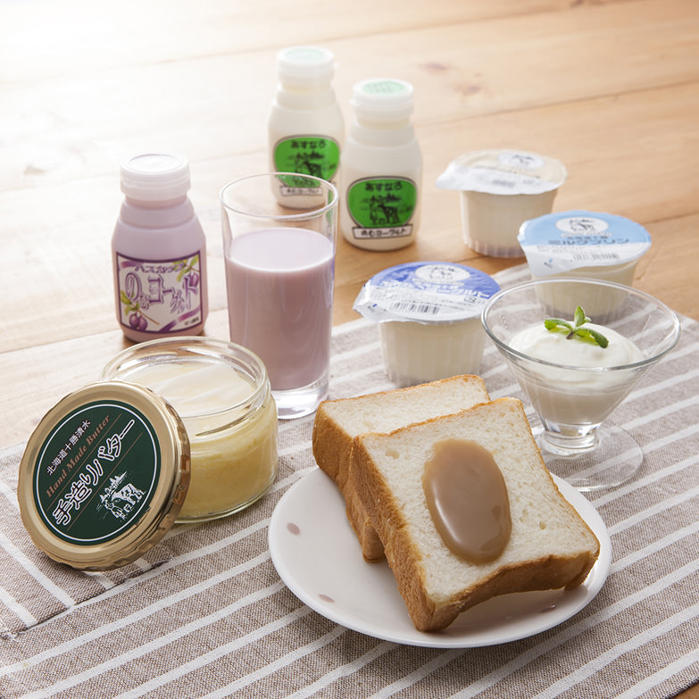 あすなろ特選セット 有限会社あすなろファーミング 北海道 無農薬栽培の牧草で育てた乳牛から絞った生乳加工品セット。
