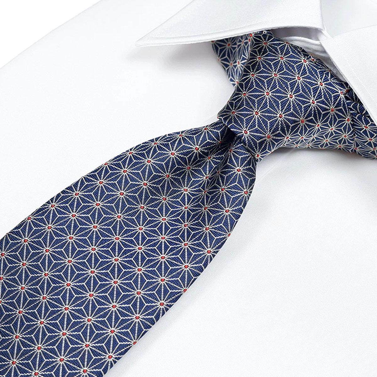 平安時代より伝わる麻の葉紋様 麻の葉紋ネクタイ