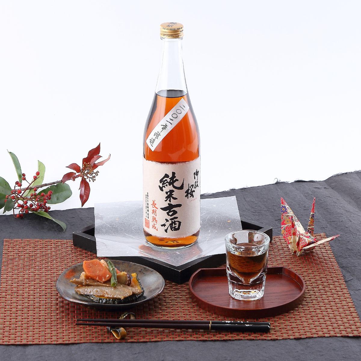 トロリとした個性的な美味しさ 御殿桜 純米古酒 2002年 720ml[純米古酒]