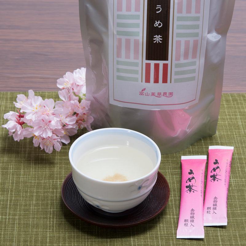 食物繊維入り健康茶 さっと溶けてすぐ飲めるフリーズドライ果肉入り顆粒 うめ茶〔25スティック本×2袋〕