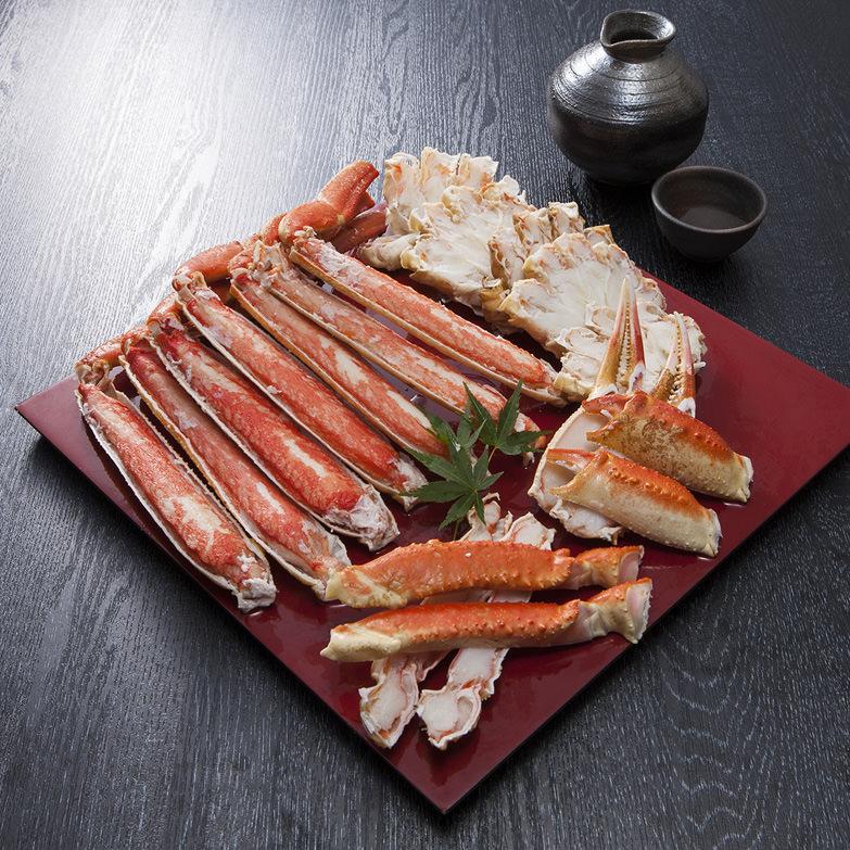 ボイルズワイガニ ハーフポーションカット1kg 株式会社TMフーズ 福岡県 ボイルズワイガニの殻を上半分カットして食べやすくしました。