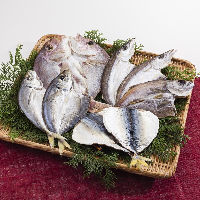 大串鯛と季節の干物詰め合わせセット ひらまる 和歌山県 串本の海で穫れた新鮮な魚を一つひとつ丁寧に仕上げました