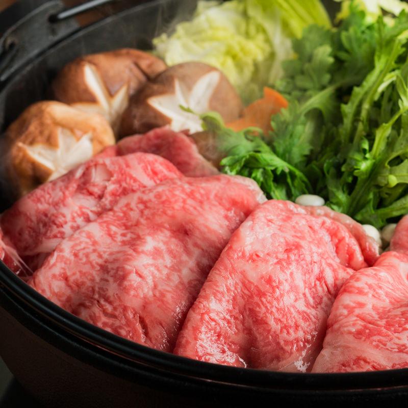 鳥取県産和牛赤身スライス高級すき焼き用牛肉〔400g〕