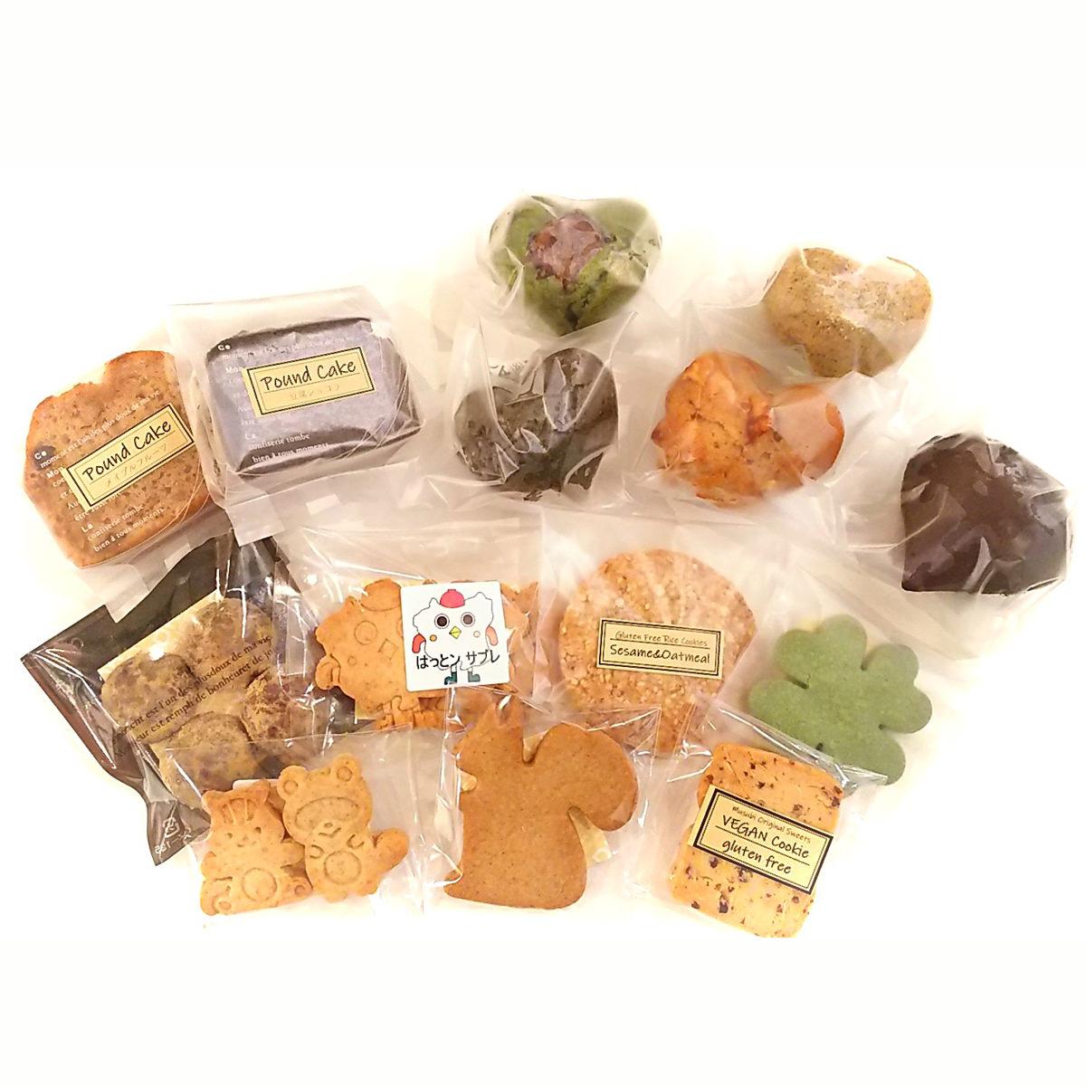 Vegan Sweets 詰合せ 〔マフィン50g×5、パウンドケーキ65g×2、クッキー20g×7〕 宮城県 洋菓子 精進スイーツ結び